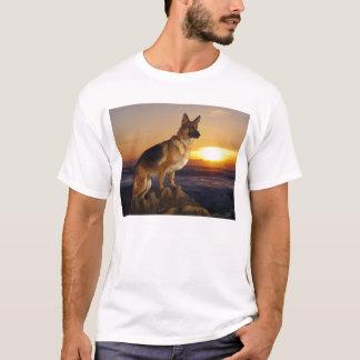 Camiseta Retrato de um cão de german shepherd ou de um