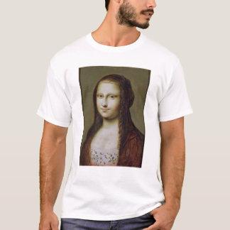 Camiseta Retrato de uma mulher inspirada pela Mona Lisa