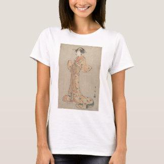 Camiseta Retrato do ator Nakamura Yasio como um Oiran