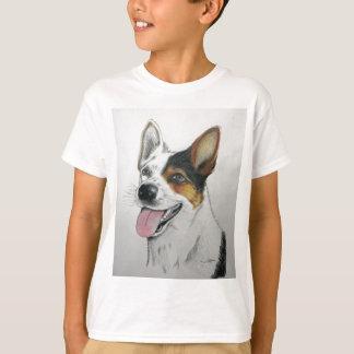 Camiseta Retrato do cão, por Jim Ott