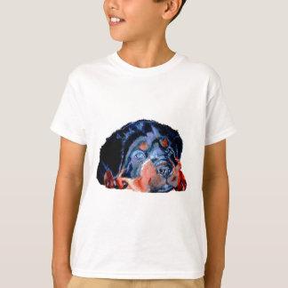 Camiseta Retrato do filhote de cachorro de Rottweiler