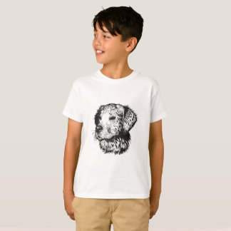 Camiseta Retrato do filhote de cachorro do golden retriever