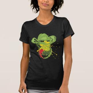 Camiseta Retrato do gato do vaqueiro do Grunge