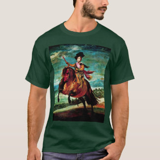 Camiseta Retrato do príncipe Balthasar Carlos a cavalo