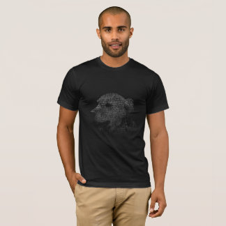Camiseta Retrato do texto do golden retriever