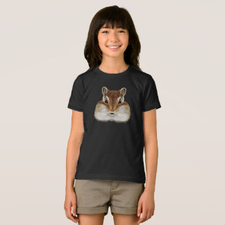 Camiseta Retrato ilustrado do Chipmunk.