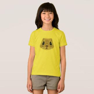 Camiseta Retrato ilustrado do esquilo de vôo