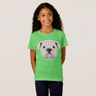 Camiseta Retrato ilustrado do filhote de cachorro inglês do
