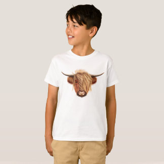 Camiseta Retrato ilustrado do gado das montanhas