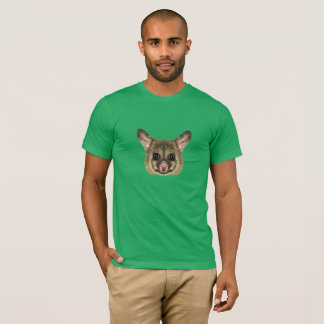 Camiseta Retrato ilustrado do gambá comum do brushtail