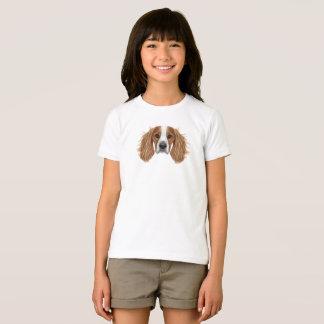 Camiseta Retrato ilustrado do Spaniel. de Springer inglês