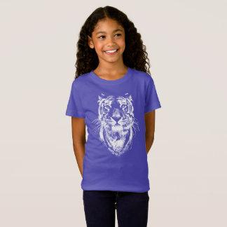 Camiseta Retrato impressionante da cabeça do gato de tigre