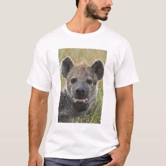 Camiseta Retrato manchado da hiena, croduta do Crocuta,