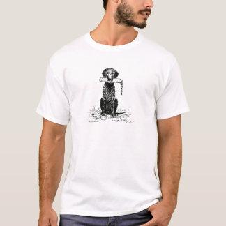 Camiseta retriever revestido encaracolado