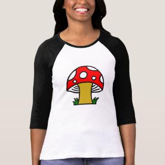 Camiseta retro do cogumelo das bolinhas brancas