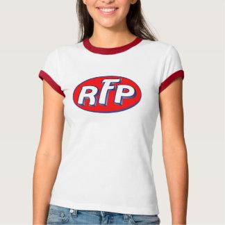 Camiseta retro do porco de feltro do vermelho