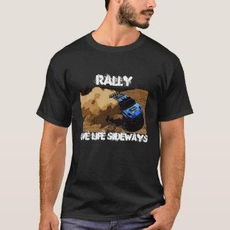 Camiseta Reunião-Corrediça, reunião, vida viva lateralmente