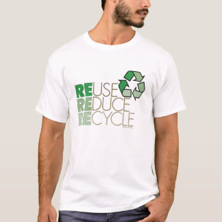 Camiseta Reusar reduz o t-shirt do reciclar