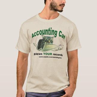 Camiseta Revisão do gato do contador SEU t-shirt dos