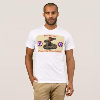 Camiseta Revolta de impostos sobre os bens imóveis