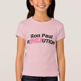 Camiseta Revolução cor-de-rosa Ron Paul das meninas