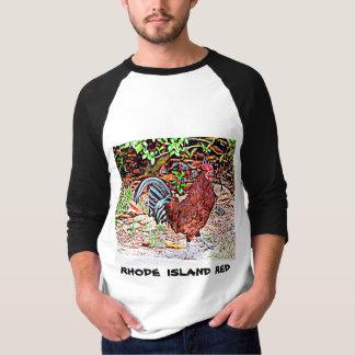 Camiseta Rhode - galo do vermelho da ilha