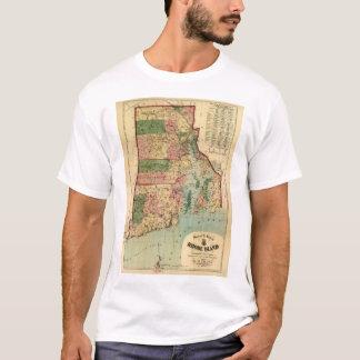 Camiseta Rhode - ilha & mapa das plantações do providência