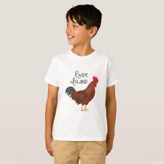 Camiseta Rhode - pássaro de estado vermelho da galinha da