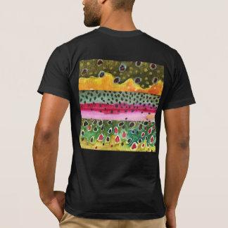Camiseta Ribeiro, arco-íris, peles da truta de Brown