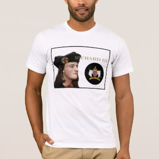 Camiseta Richard III e seu crachá branco do varrão