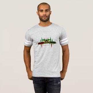 Camiseta Riddim enraíza o t-shirt do futebol americano dos