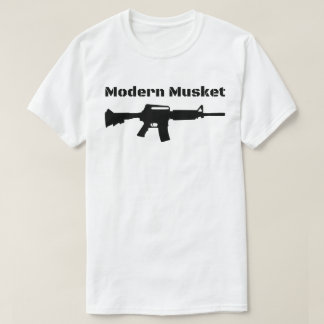 Camiseta Rifle preto moderno Molon Labe do mosquete AR15