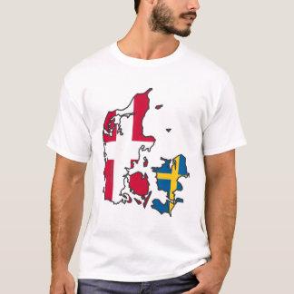 Camiseta Rigtige Danmark de Jylland & de Fyn - de Det