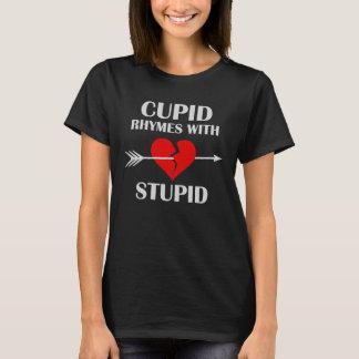 Camiseta Rimas do Cupido com dia dos namorados escuro
