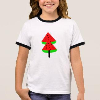 Camiseta Ringer árvore de fruta da melancia
