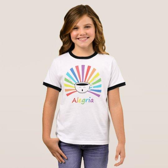 Camiseta Ringer Café com sentimentos