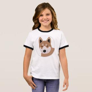 Camiseta Ringer Cão de Shiba Inu Jpanese