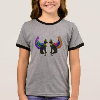 Camiseta Ringer cão egípcio com asas