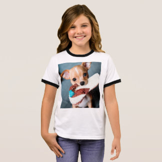 Camiseta Ringer chihuahua flip flops