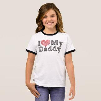 Camiseta Ringer Eu amo meu pai
