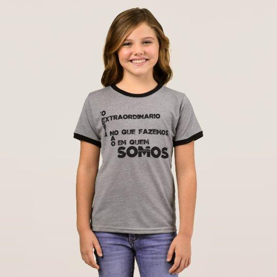 Camiseta Ringer Frases de filmes e games