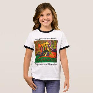 Camiseta Ringer Ilustração abstrata DAI C de Digitas