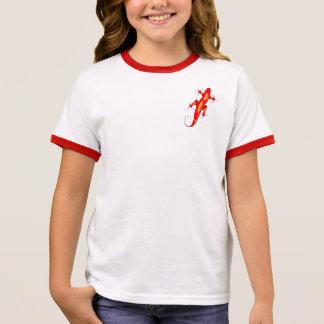Camiseta Ringer Lagarto Encaracolado-Toed