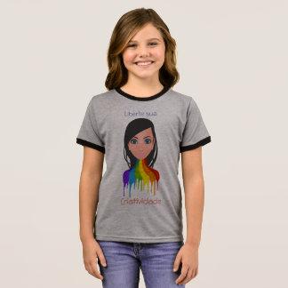 Camiseta Ringer Liberte sua criatividade