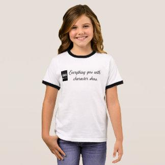 Camiseta Ringer O caráter das meninas calça o T
