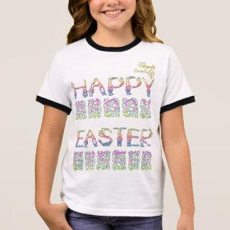 Camiseta Ringer O felz pascoa no coelho rotula o TShirt da