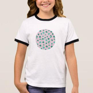 Camiseta Ringer O trevo sae do t-shirt da campainha das meninas