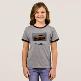 Camiseta Ringer O tubo do vaqueiro caçoa t-shrits das meninas