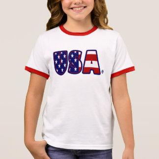 Camiseta Ringer Os EUA embandeiram o t-shirt impressionante