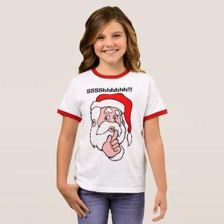 Camiseta Ringer Papai noel secreto Sssshhhh!!